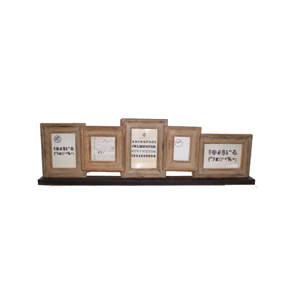 30.5 in. x 9 in. Natural Tabletop Collage Picture Frame   Products ...