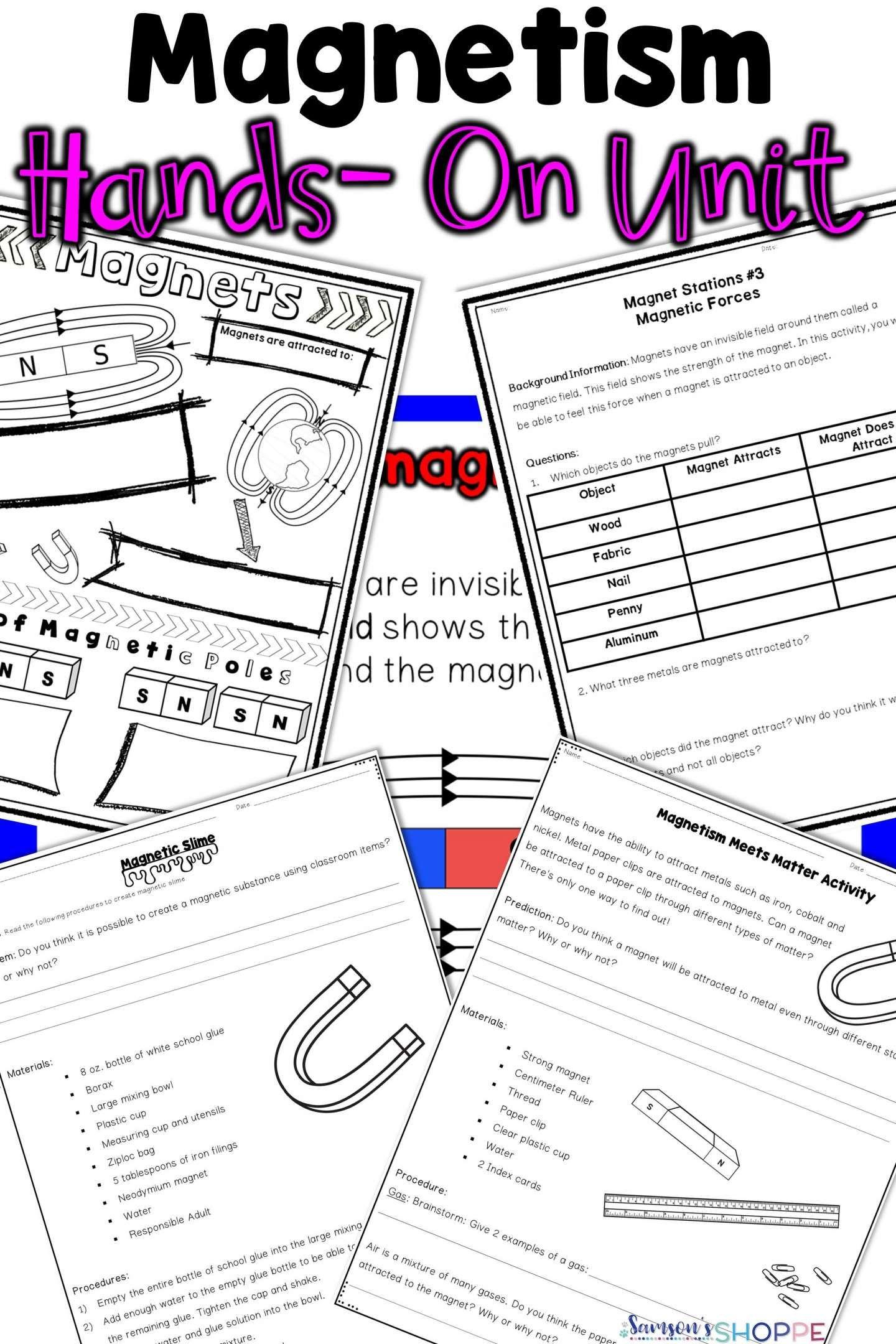medium resolution of 16+ Magnet Worksheets For 3Rd Grade   Third grade science lessons