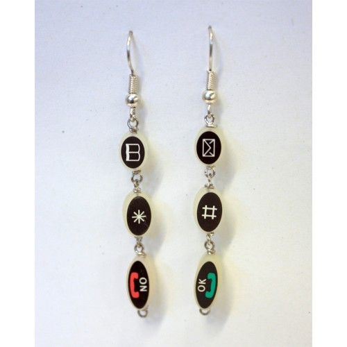 The Hymiö earrings (finnish for smiley) are made of recycled mobile phone keys.