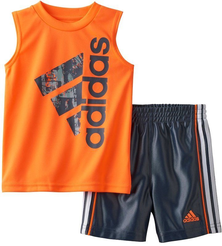 adidas baby Boys set Active Tank /& Shorts Set size 12 month