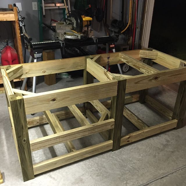 DIY Big Green Egg Table With Concrete Top And Barn Door