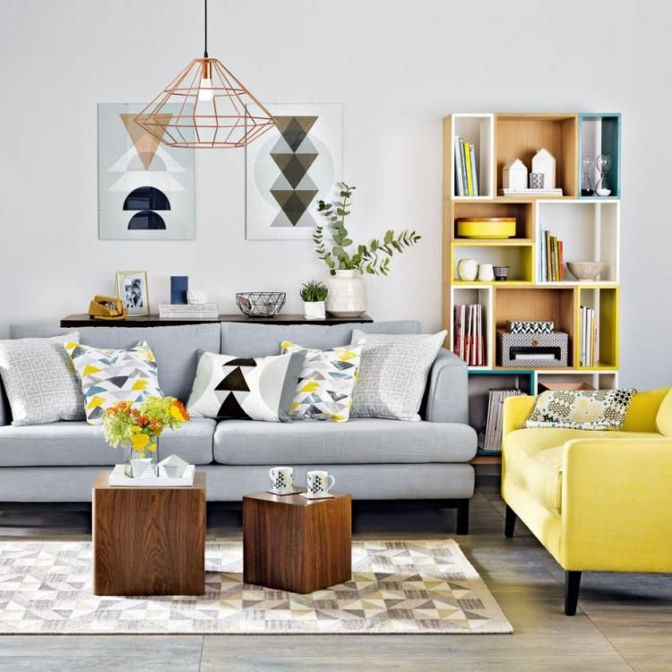 Cool Grey Living Rooms: Yellow Living Room Image By Ohood Ali On ديكوووور