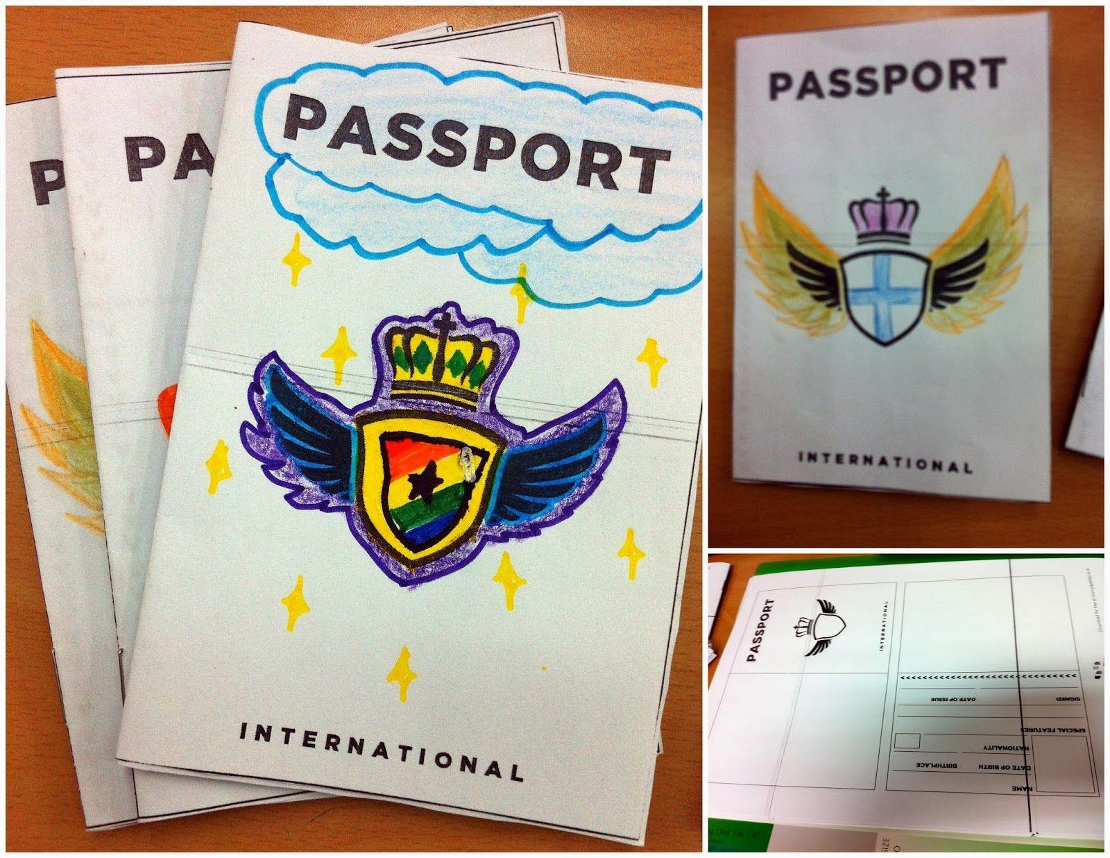 Editable Passport Stamps Template