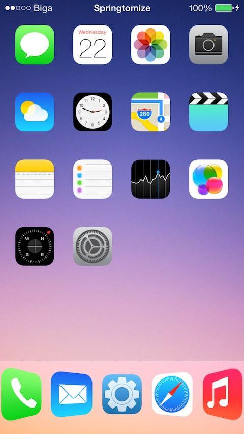 Cydia Tweak: Springtomize 3 For iOS 7 | iOS 7 Cydia Tweaks