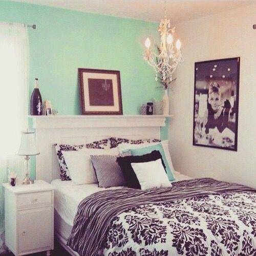 Chambre à coucher turquoise