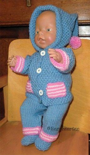 Voorbeeldkaart - BabyBorn: blauw setje - Categorie: Breien - Hobbyjournaal uw hobby website