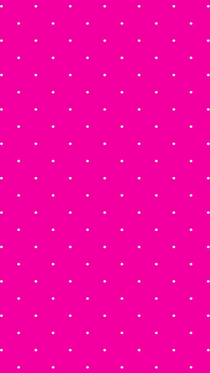 hot pink // white // polka dots