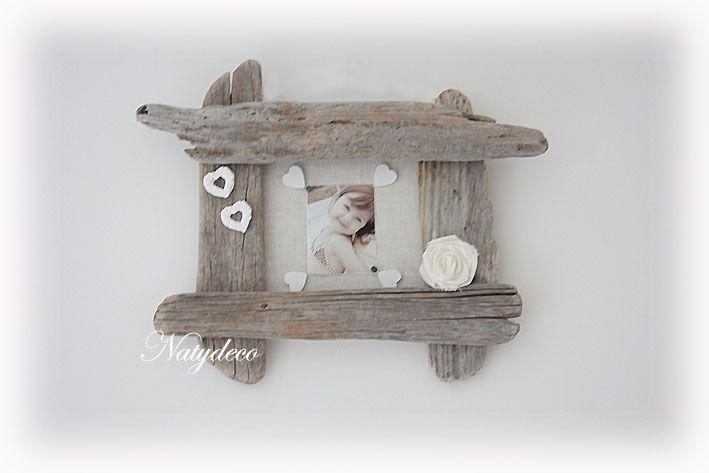 Cadre photo en bois flott natydeco http www - Cadre en bois flotte decoration ...