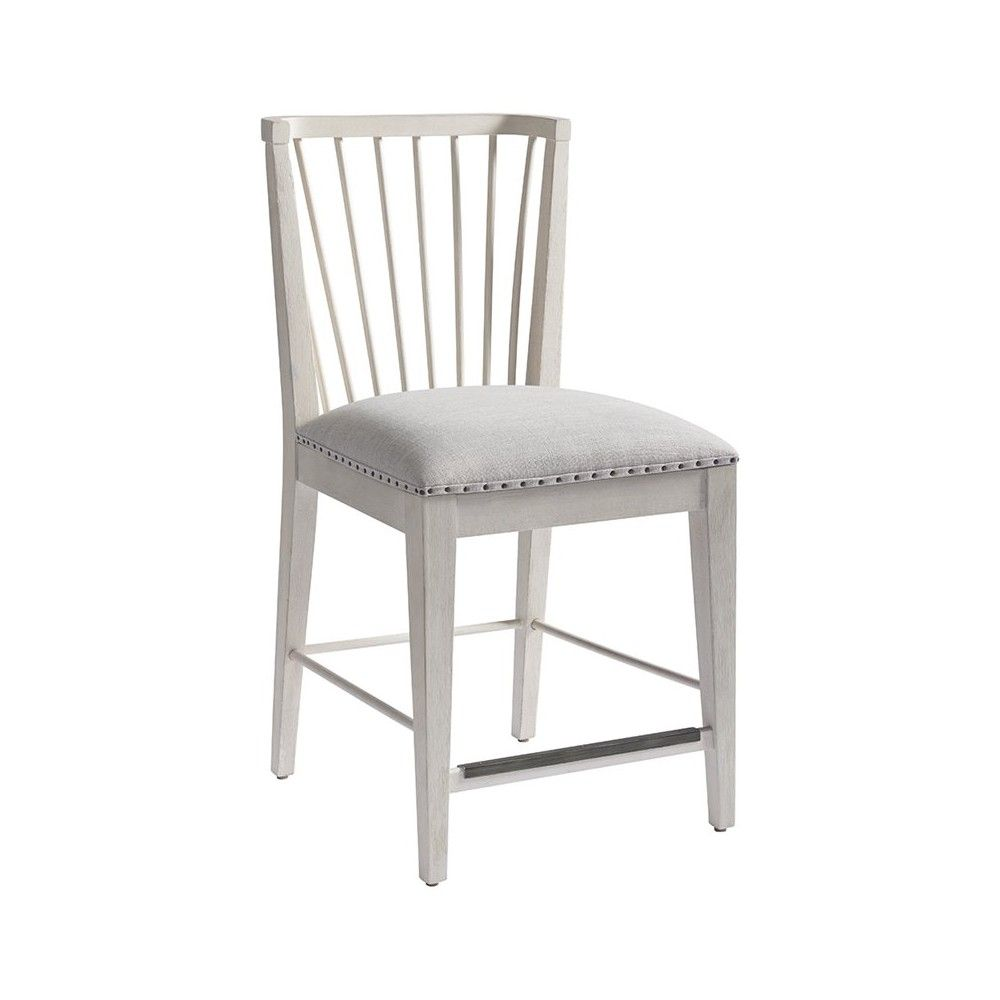 24 Windsor Counter Stool In Bluff In Silver Universal