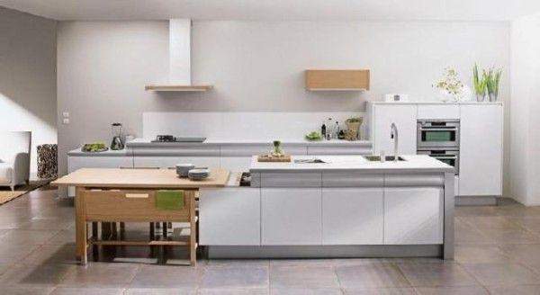 Cocinas con isla central Modelos 2015 con mesa | cocina | Pinterest ...