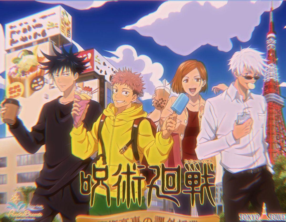 Jujutsu Kaisen X Tokyo Tower Collab Illustration Anime Anime Serien Kasein