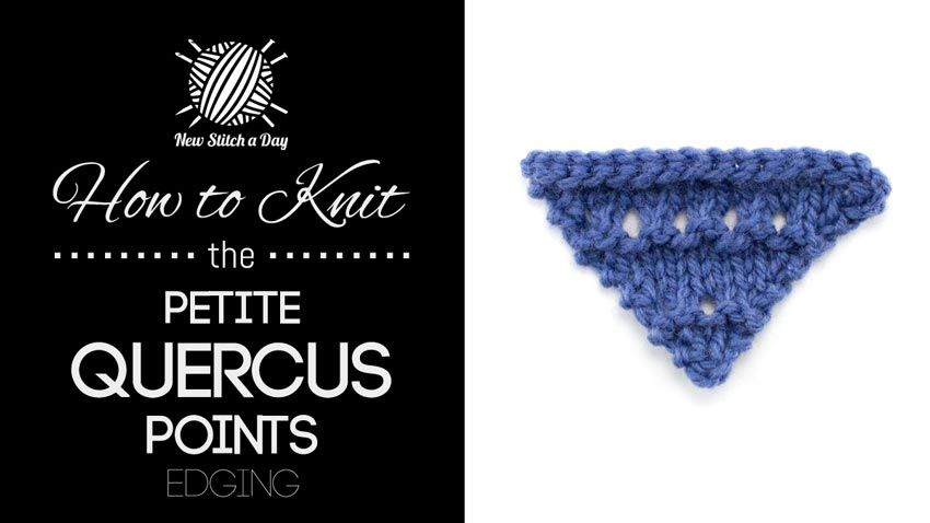 How to Knit the Petite Quercus Points Edging/The petite quercus edging would be great for wrapping gifts, tiny bunting, or edging children's items!