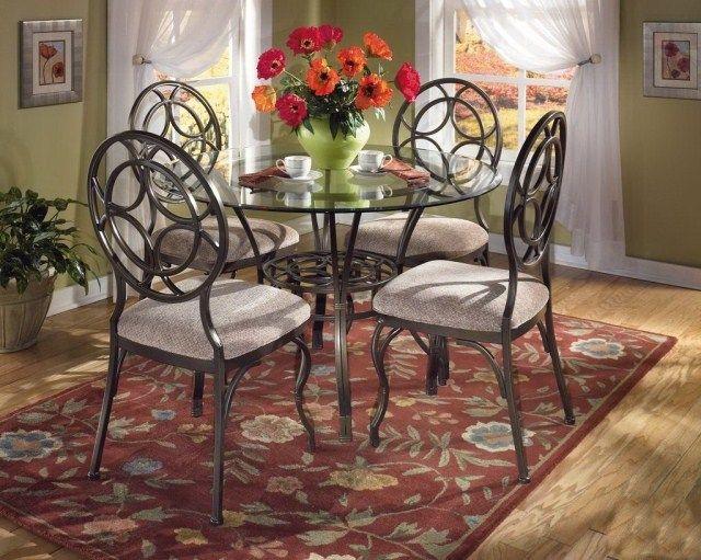 Residencial europea muebles, hierro forjado mesas y sillas de ...