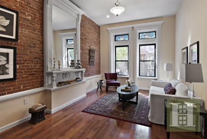 121 West 131st Street 4 New York Ny Trulia Brownstone Interiors Small House Living Stone Wall Interior Living Room