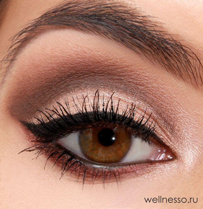 макияж глаз пошаговое фото карих глаз