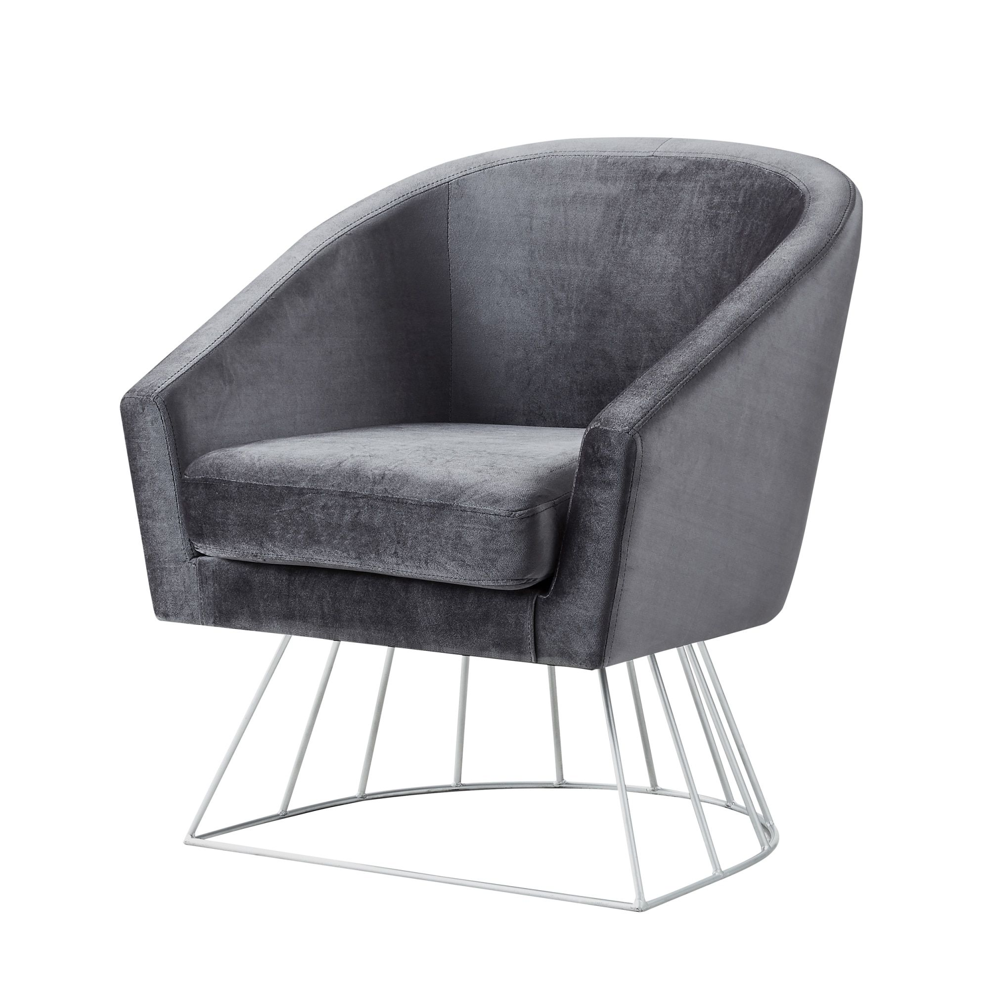 Admirable Inspired Home Sabrina Velvet Accent Chair With Metal Base Andrewgaddart Wooden Chair Designs For Living Room Andrewgaddartcom