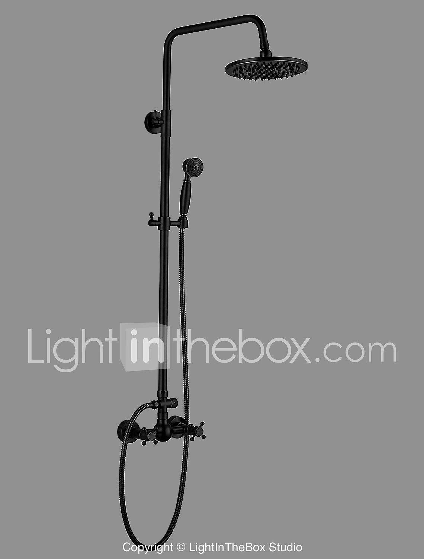 Shower Faucet Antique Oil Rubbed Bronze Centerset Ceramic Valve 5590248 2018 208 99 Bath Shower Mixer Taps Shower Mixer Taps Bath Shower Mixer