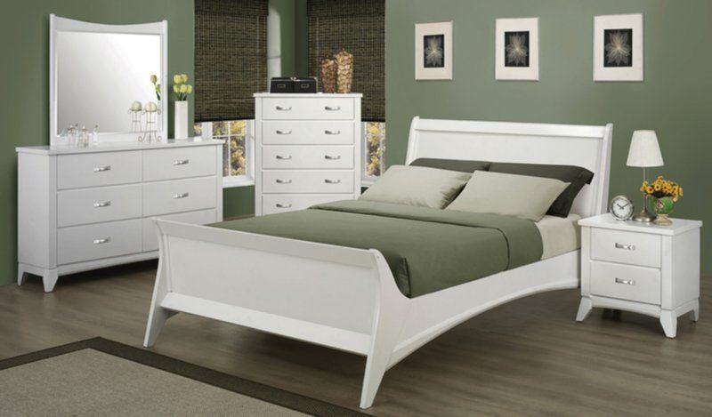 202031-SET-CO Queen Bedroom Set White Bedroom Sets - Queen King