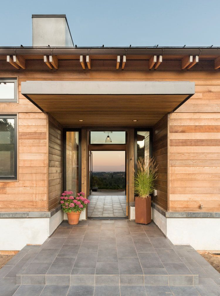 wood lap siding cantilever over the entryway door open on modern house designs siding that look amazing id=55475