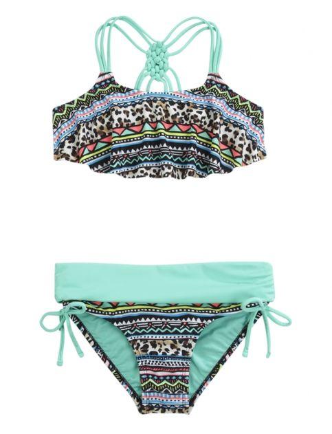 f562c3fe12d77 Tribal Flounce Bikini Swimsuit | Girls Swimsuits Swim | Shop Justice ...