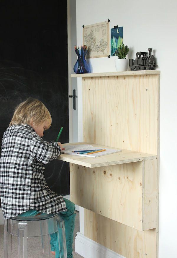 Diy Kids Fold Away Desk Fold Away Desk Kid Desk Fold
