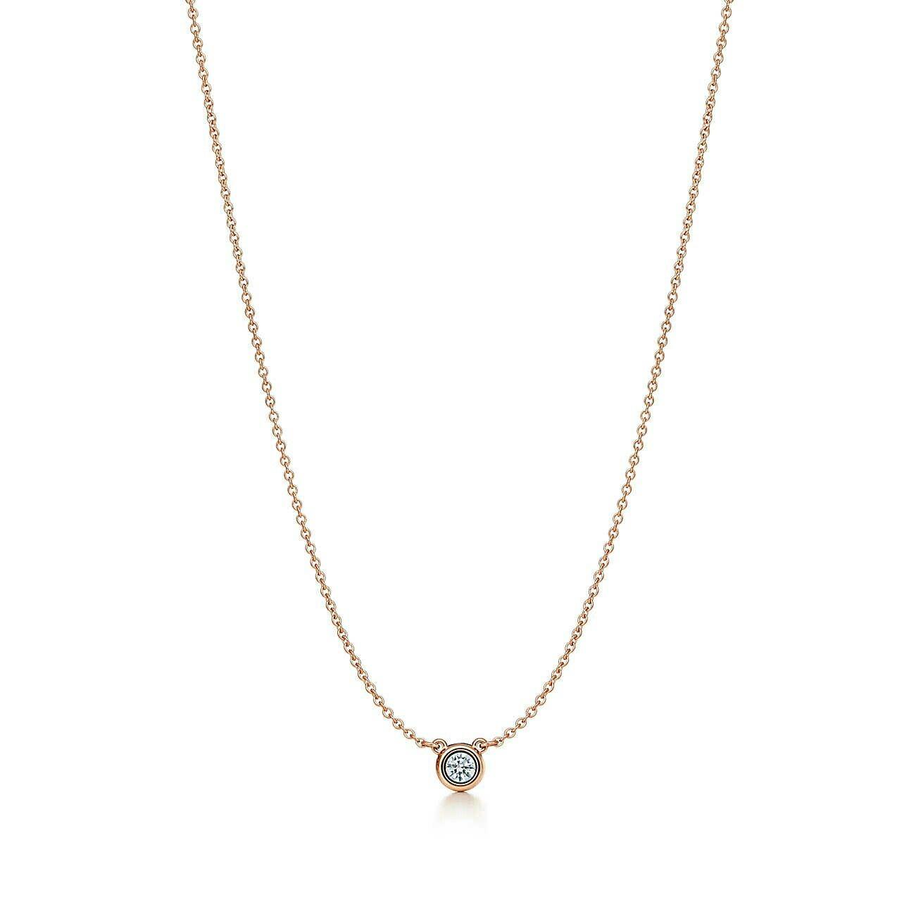 20b15029b elesa perreti diamonds by the yard pendant in 18k rose gold by tiffany&co .  $1025