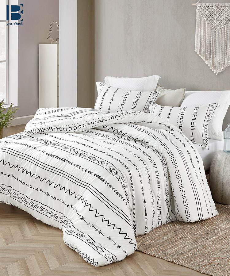 Comfortably Soft Extra Large King Bedding Arrow Black And White King Oversized Comforter Set Comforter Sets White Comforter Bed Comforter Sets King size cotton comforter sets