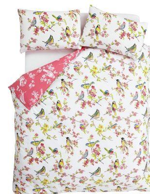 Catherine Lansfield Birds Boutique Duvet Cover Set Double At Argos Co Uk