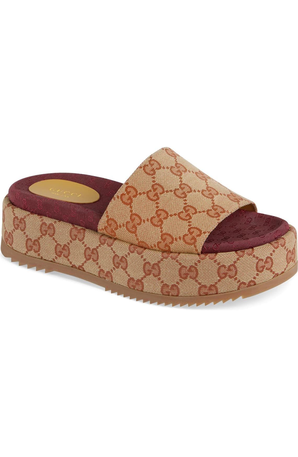 Gucci Angelina GG Supreme Platform Slide Sandal (Women