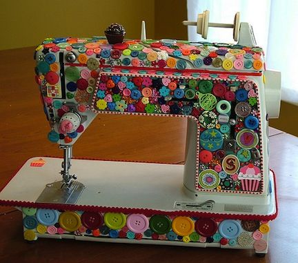 buttoned up sewing machine