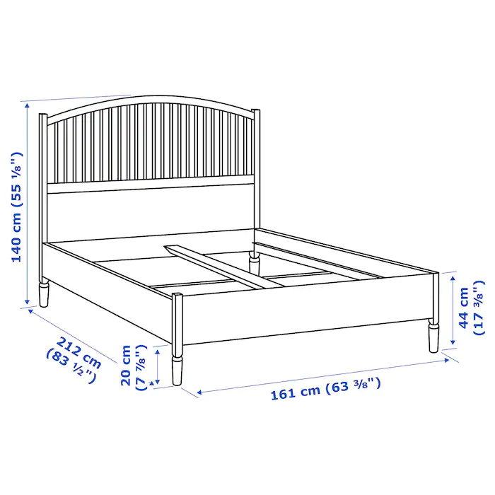 TYSSEDAL Bed frame, white, Luröy, Queen IKEA in 2020