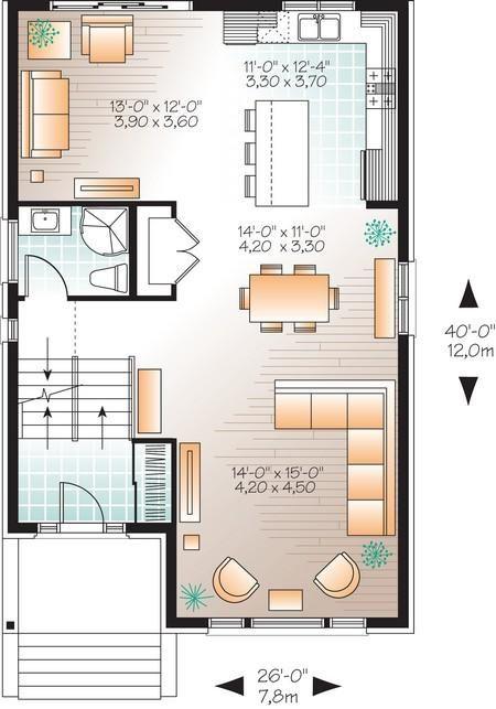 House Plan 034 01062 Contemporary Plan 1 883 Square Feet 3 Bedrooms 2 Bathrooms House Plans Modern Style House Plans Modern Contemporary House Plans
