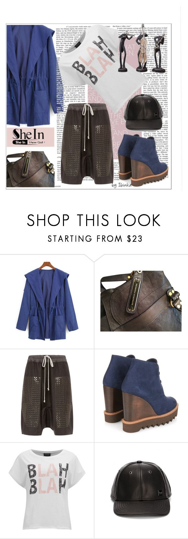 """Blue Waist Coat"" by ibinka ❤ liked on Polyvore featuring Proenza Schouler, Rick Owens, STELLA McCARTNEY, VILA and MELIN"