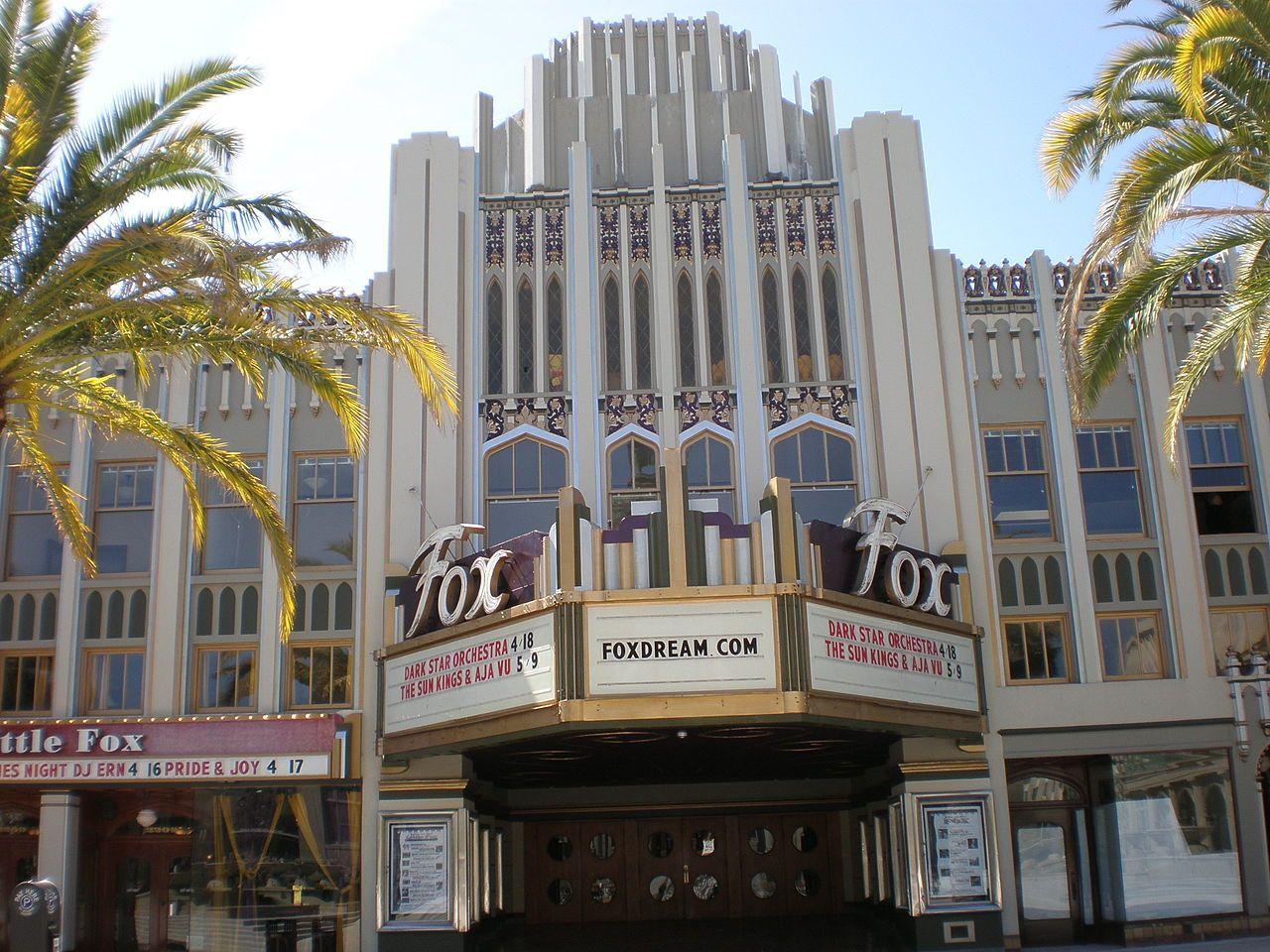 Fox theatre redwood city front 1 fox theatres