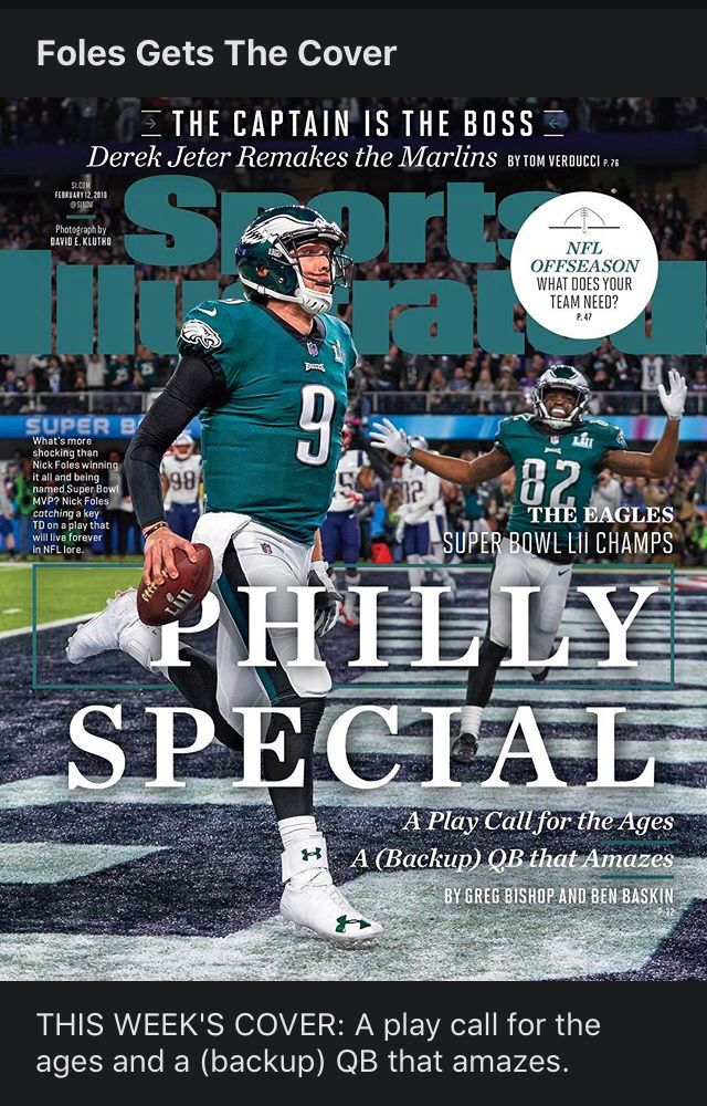 Foles Gets The Si Cover With Philly Special Eagles