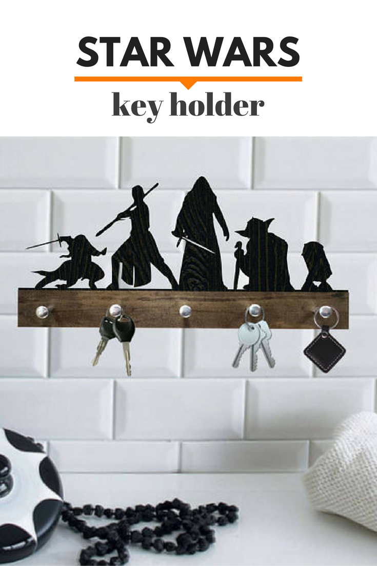 Cool Star Wars key holder. Perfect for boys room decor ...
