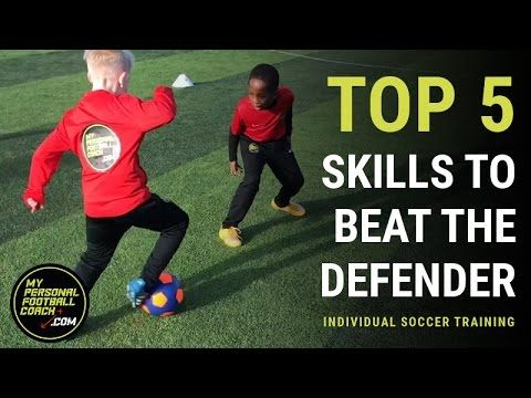 Top 5 Soccer Skills To Beat The Defender Soccer Workouts Soccer Dribbling Drills Soccer Skills