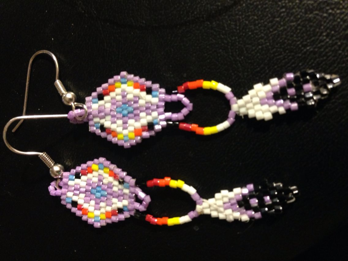 Earrings for fun | My Craftiness Astounds Me!! | Seed bead ...