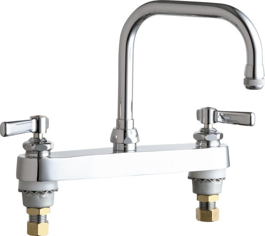 Chicago Faucets 527-AB Commercial Grade High Arch Kitchen Faucet ...