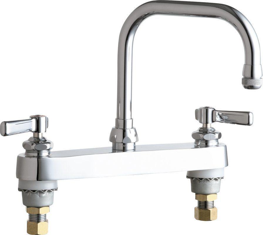 amazing High Arch Kitchen Faucet #6: Chicago Faucets 527-AB Commercial Grade High Arch Kitchen Faucet with Lever  Hand Chrome Faucet
