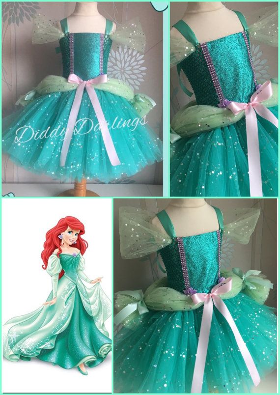 Ariel Ballgown Tutu Dress Little Mermaid Tutu Dress