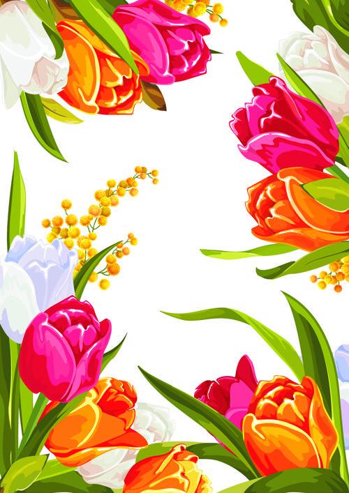 colored beautiful flowers design graphics free adesivos
