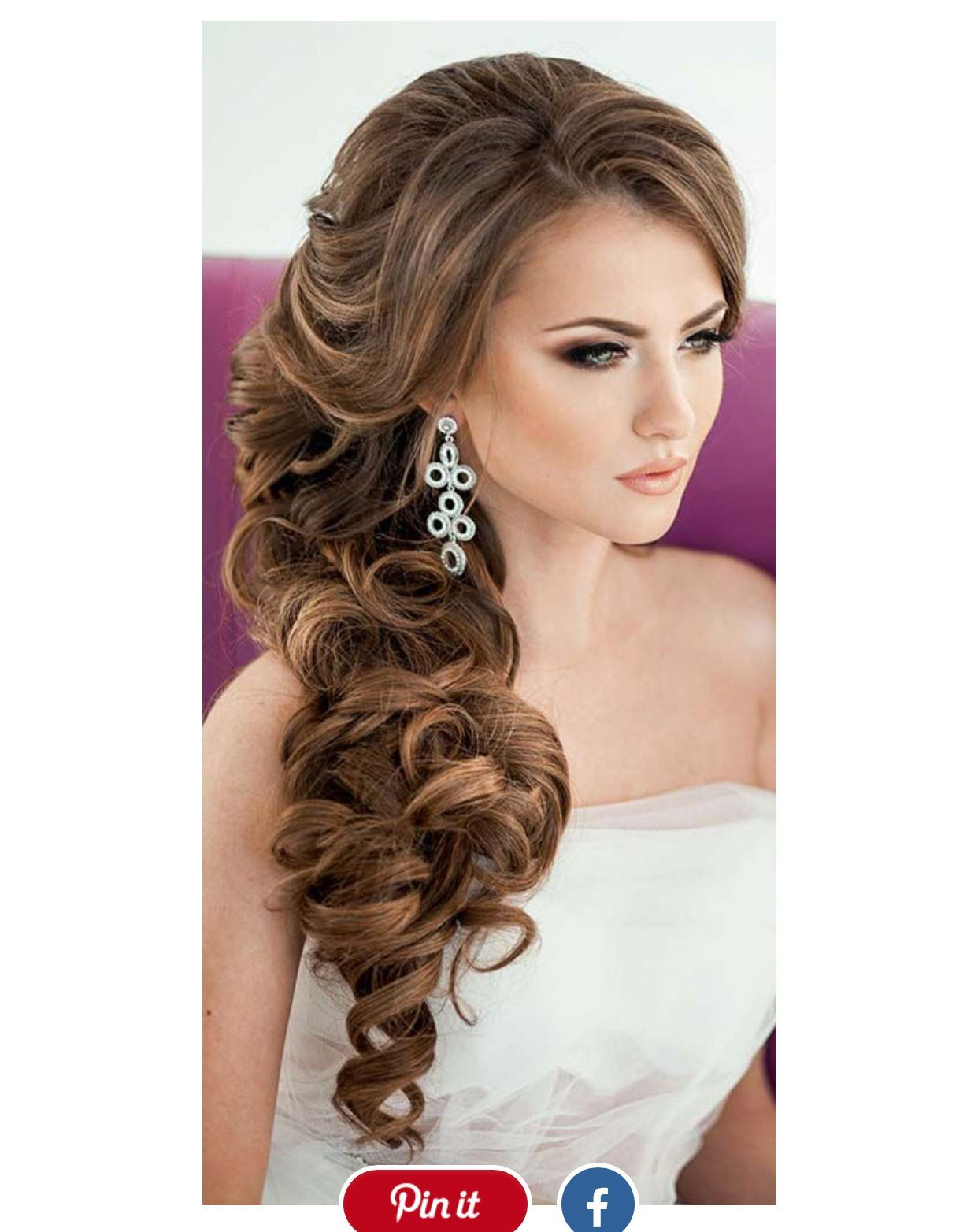 Front View Hair Wedding Hairstyles Long Hair Wedding Side Hairstyles Long Hair Styles Hair Styles