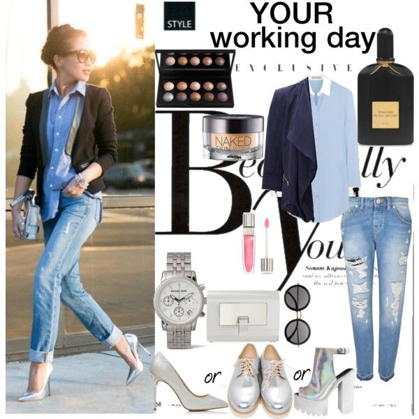 #3working day by tzortziadel on Polyvore featuring polyvore, fashion, style, Michael Kors, SELECTED, Maison Scotch, Forever New, Proenza Schouler, The Row, Urban Decay, Lancôme and Sonam Life