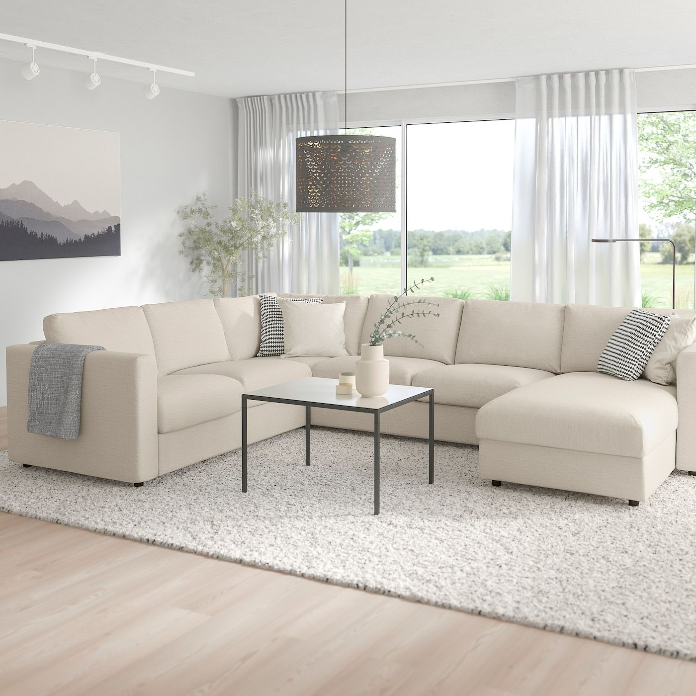 Vimle Corner Sofa Bed 5 Seat With Chaise Longue Gunnared Beige Ikea In 2020 Ecksofa Schlaffunktion U Formiges Sofa Sofa