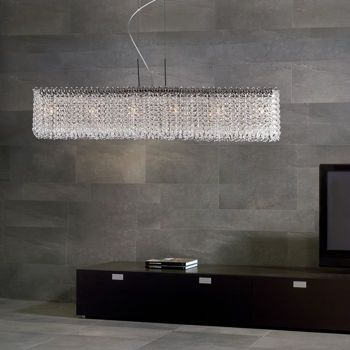 Costco Di Luce Rectangular 6 Light Crystal Chandelier