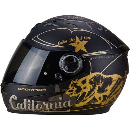 Scorpion Exo 490 Golden State Helmet - Graphic Black  814f3f28fe6ed