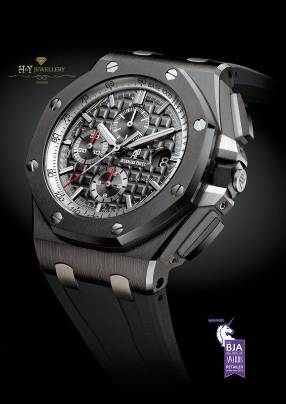 Audemars piguet royal oak offshore chronograph ceramic ref 26405ce oo watches in for Royal oak offshore ceramic