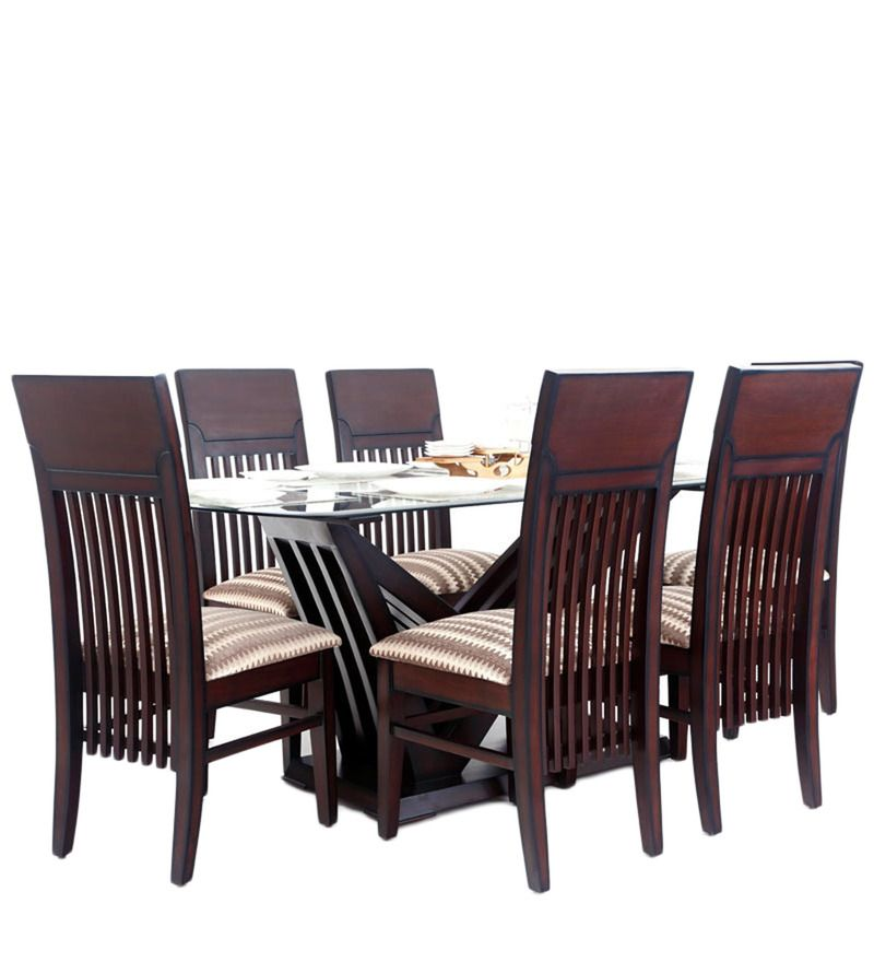 Zrich Six Seater Dining Set by Looking Good Furniture at discounted price  of 43021 than 75920rs. Zrich Six Seater Dining Set by Looking Good Furniture at