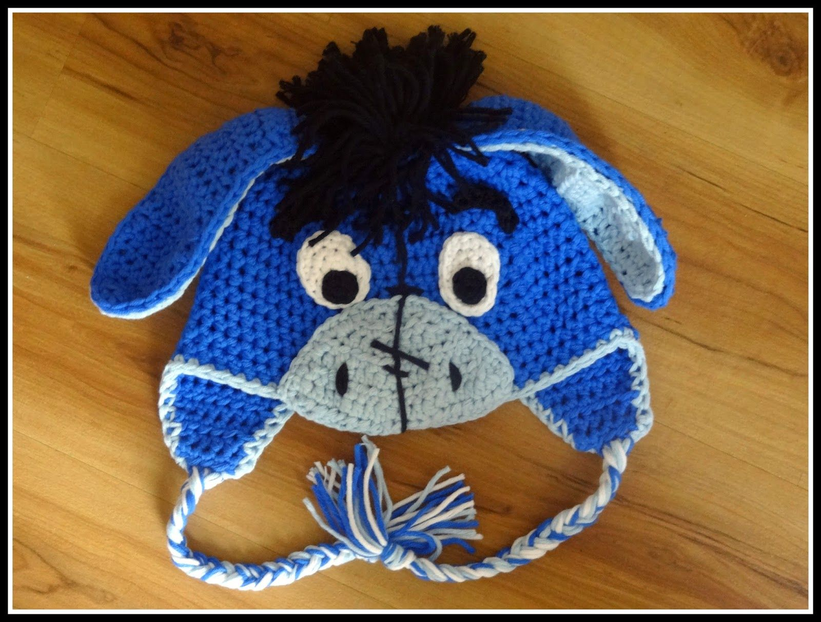Fannysbuntewelt: Eselsmütze Größe 52 | Crochet Eeyore | Pinterest ...